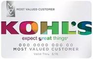 Kohl's credit card.